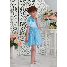 Платье нарядное голубого цвета утонченная Франсуаза
