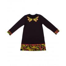 """Платье для девочек с длинными рукавами """"хохлома"""""""