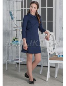 """Платье синего цвета приталенного силуэта """"Эмма"""""""