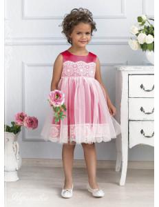 Платье нарядное коралловое Ангелина
