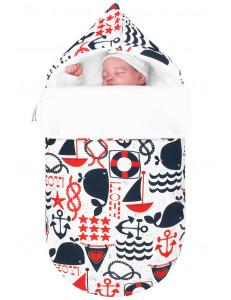 Конверт для новорожденного «Свистать всех наверх!», зимний