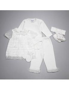 """Комплект белого цвета для малышей """"Очарование"""""""