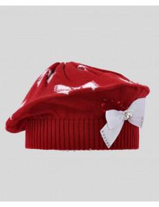 """Берет демисезонный красного цвета для девочек """"ЛЮБУШКА"""""""