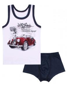 """Гарнитур для мальчиков (трусы и майка) """"Красное авто"""""""