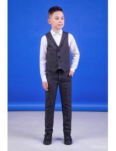 """Костюм для мальчиков серого цвета (жилет и брюки) """"Classic"""""""