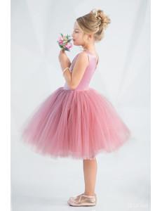 """Платье нарядное с пайетками цвета сухая роза """"Элегант"""""""