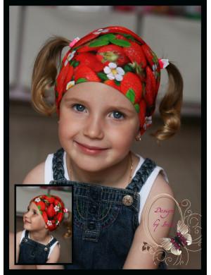 "Бандана летняя для девочки ""Strawberry"""